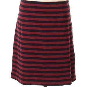 Banana Republic Red & Black Striped Skirt - Size 6